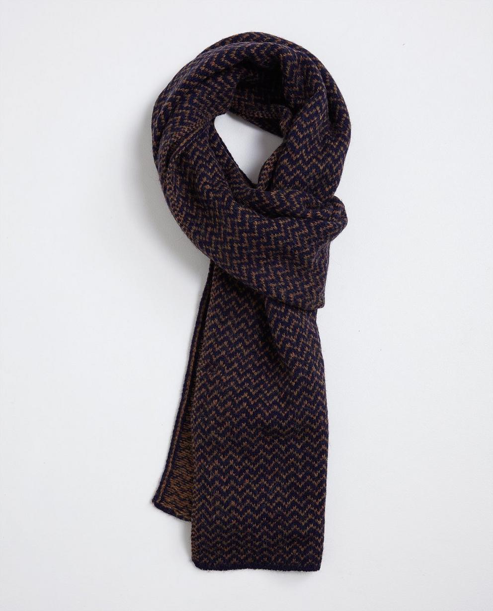 Wollen sjaal met zigzagpatroon - null - Tim Moore